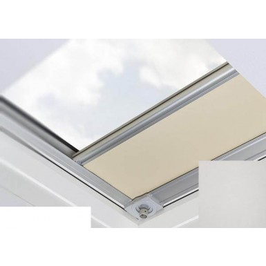 Fakro - ARF/D II 055 Z-Wave - Flat Roof Electrically Operated Blackout Blind - Grey