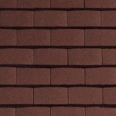 Sandtoft Standard Plain Tile - Concrete Tile - Sandfaced Mottled Red