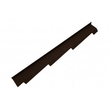 Britmet - Right Hand Side Wall Flashing - Bramble Brown (1250mm)