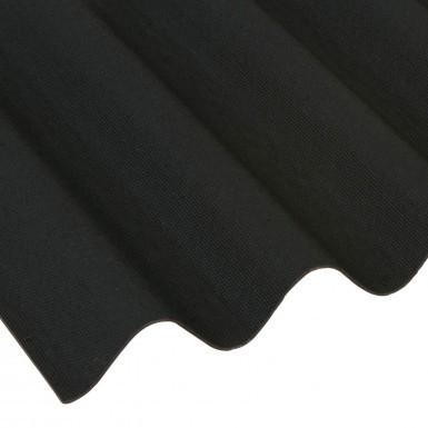 Onduline - Black Corrugated Bitumen Roof Sheet (2000 x 950mm)