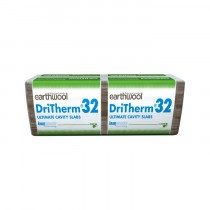 Knauf Insulation - Earthwool DriTherm Cavity Slab - 32 Ultimate (1200mm x 455mm x 75mm - 3.28m2)