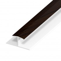 UPVC Shiplap Cladding - Joint Trim - 125mm - Rosewood (5m)