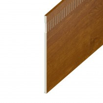 Vented Soffit UPVC Board - Flat 10mm Airspace - 300mm x 9mm - Golden Oak (5m)