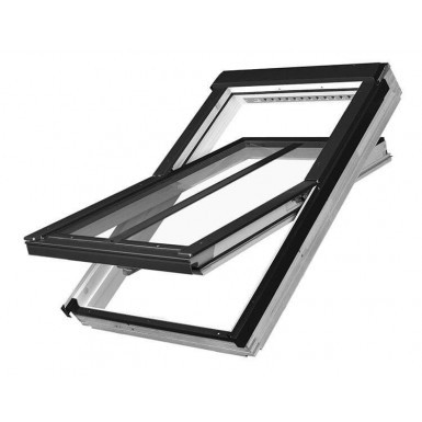 Fakro Roof Window - Electrical Operated Conservation Centre Pivot in White Acrylic Coated Pine - Laminated Double Glazing [FTW-V/C P2 Z-Wave]