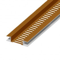Soffit Board Ventilation Strip - 10mm - Oak (5m)