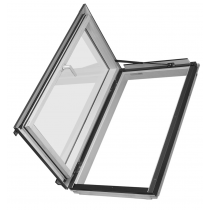 Fakro Roof Window - Side Hung Escape in White Polyurethane Coated Pine - Energy Efficient Double Glazing [FWL/U P2]