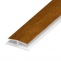 Soffit Board Panel Joint - 40mm - Golden Oak (5m)
