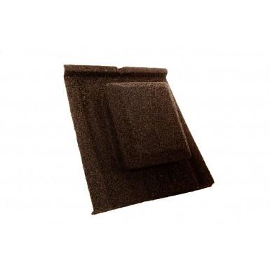 Britmet - Slate 2000 - Air Vent Tile - Bramble Brown