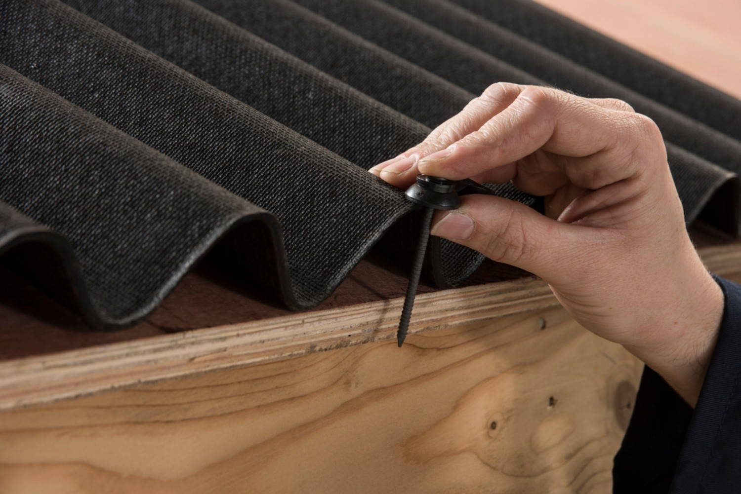 Using the Coroline Bitumen Roofing Sheets Nails