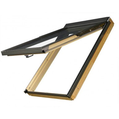 Fakro Roof Window - Top Hung Window in Pine - Laminated Double Glazing [FPP-V P2]