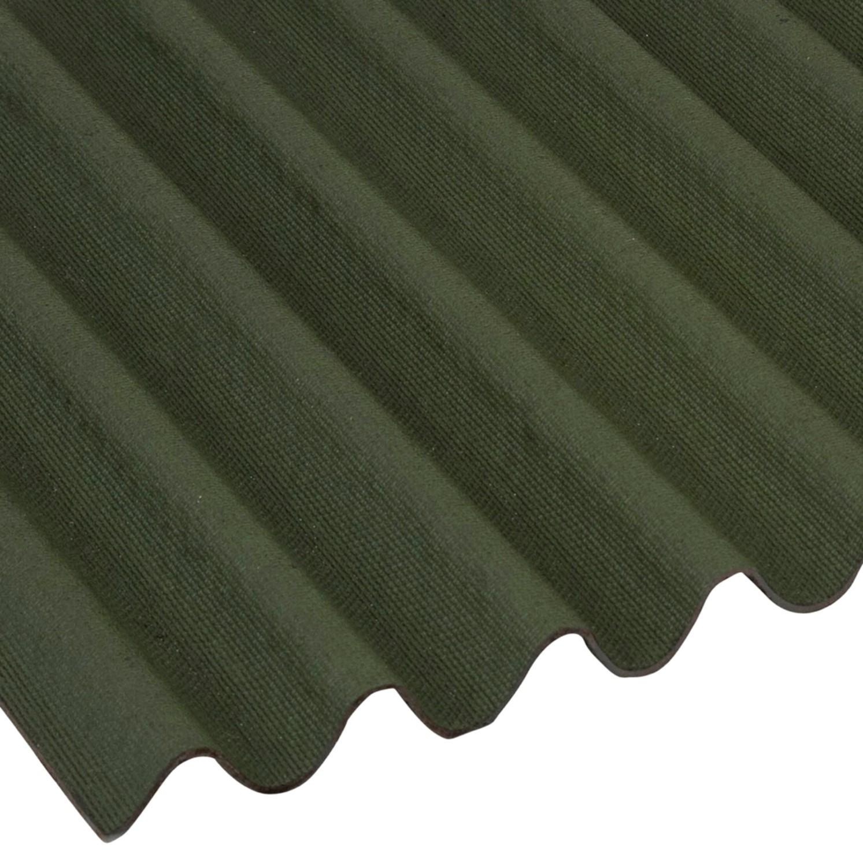Onduline Mini Corrugated Roof Sheet Green 2000x866mm Mini Profile