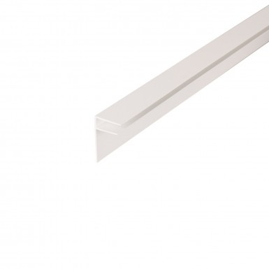 Corotherm - 10mm Polycarbonate Sheet Side Flashing -  White (4m)
