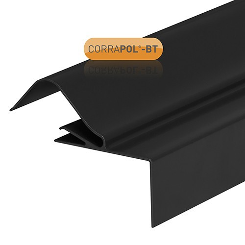 Corrapol-BT - Rock n Lock Verge with Fixings - Black