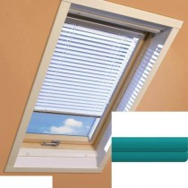 Fakro - AJP II 147 - Standard Manual Venetian Blind - Teal Blue