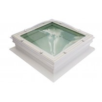 Em-View Self-Cleaning Glass Skylight with 150mm PVC Splayed Upstand - Square