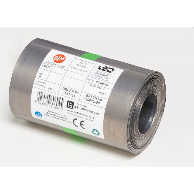 Code 3 Lead Flashing - Rolled Lead Sheet - British Lead