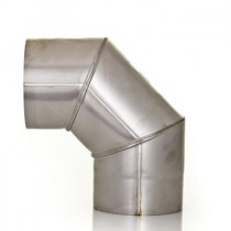 Stainless Steel Single Skin 90 Degree Elbow - 125mm to 150mm