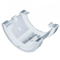 Plastic Guttering Half Round - Union - 114mm x 51mm - White