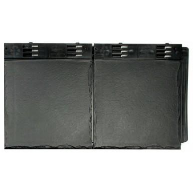 Envirotile - Double Plastic Slate Tile - Slate Grey (Pack of 10)