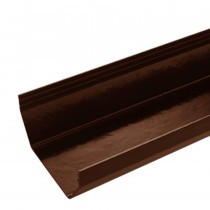 Plastic Guttering Squareline - 114mm x 95mm - Clay Brown (4m)