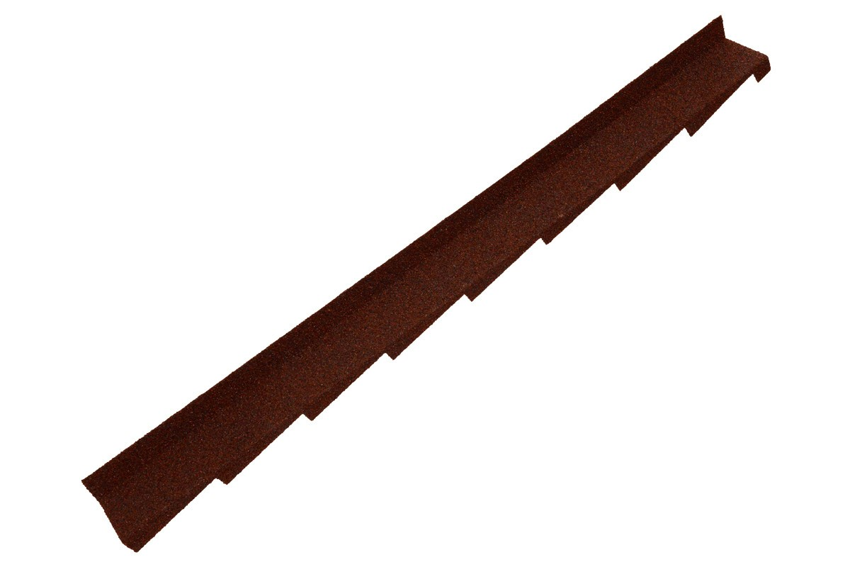 Britmet - Plaintile - Right Hand Side Wall Flashing - Rustic Terracotta (1250mm)