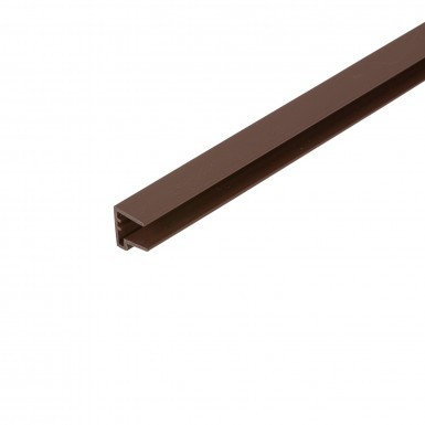 Corotherm - 10mm Polycarbonate Sheet End Caps - Brown (2100mm Pack of 2)