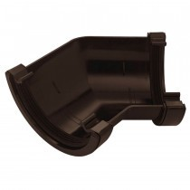 Plastic Guttering Half Round - 135˚ Angle - 114mm x 51mm - Brown