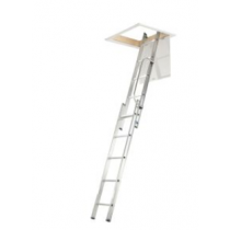 Werner 2.69m 2 Section Aluminium Loft Ladder with Handrail
