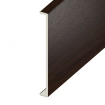 Double Fascia UPVC Capping Board - Plain 450mm x 9mm - Rosewood (5m)