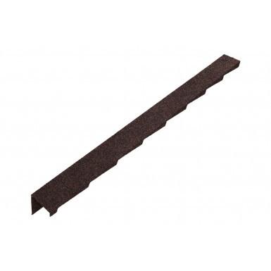 Britmet - Plaintile - Left Hand Barge - Rustic Brown (1250mm)