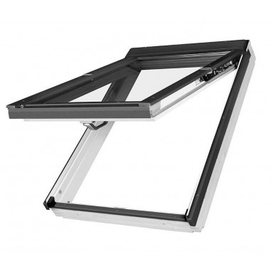 Fakro Roof Window - Top Hung in White Polyurethane Coated Pine - Laminated Double Glazing [FPU-V P2]