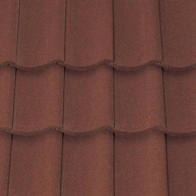 Sandtoft Shire Pantile - Concrete Tile - Sandfaced Mottled Red