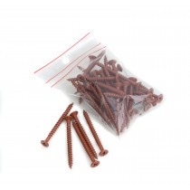 Lightweight Tiles - Plastic Coated Fixing Screws - Red/Brown (Pack of 40)