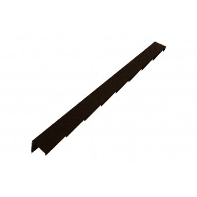 Britmet - Plaintile - Right Hand Barge - Bramble Brown (1250mm)