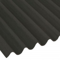 Onduline - Mini Corrugated Roof Sheet - Black (2000x866mm) Mini Profile