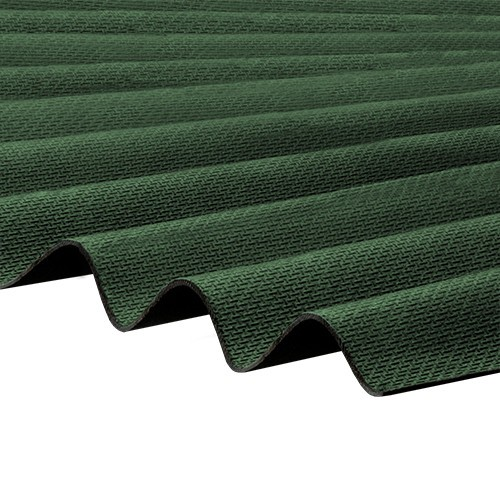 Corrapol Bt Corrugated Bitumen Roof Sheet Green 2000