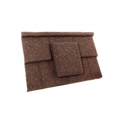 Britmet - Plaintile - Air Vent Tile - Rustic Brown