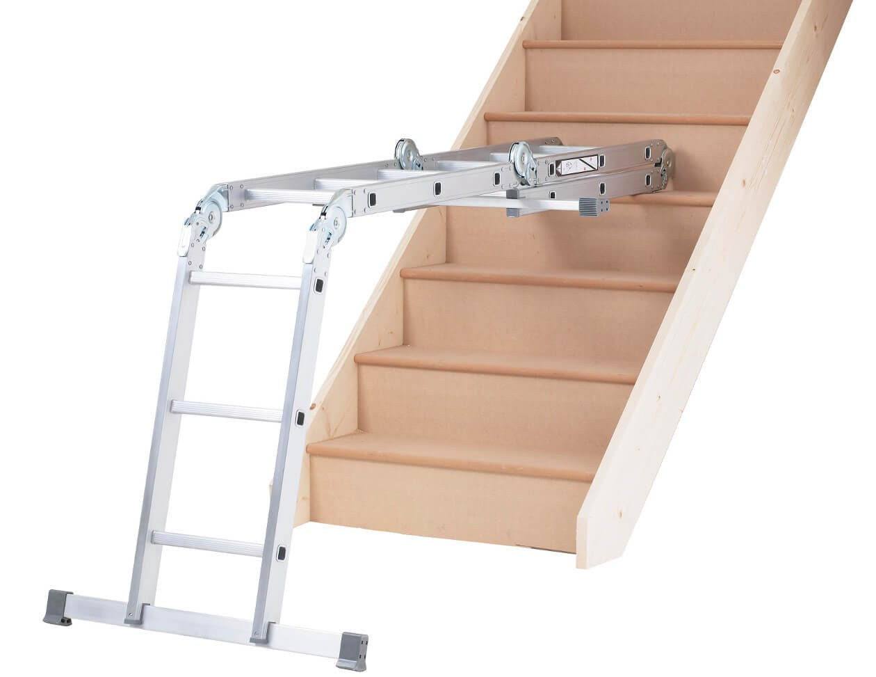 Ladder Used on Stairs