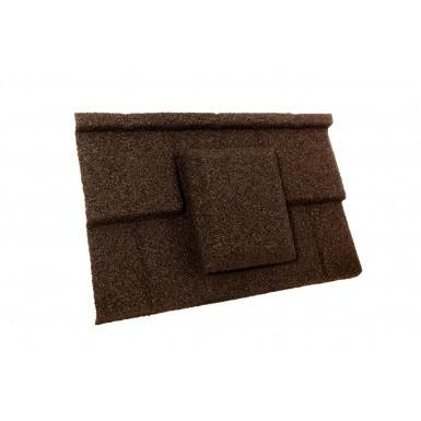 Britmet - Plaintile - Air Vent Tile - Bramble Brown