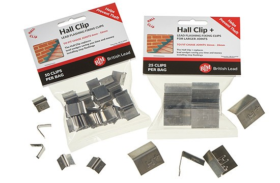 Lead Hall Clips - 18-26mm Chase - 25 Clips (Box of 5) - British Lead