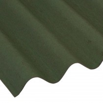 Coroline - Corrugated Bitumen Roof Sheet - Green (2000 x 950mm)