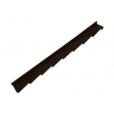 Britmet - Plaintile - Right Hand Side Wall Flashing - Bramble Brown (1250mm)