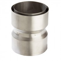 Flexiwall Flue Liner Connector - 316 Grade Stainless Steel - 125mm to 150mm