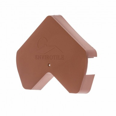 Envirotile - Gable End Cap - Terracotta
