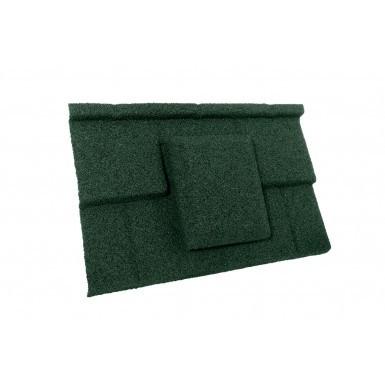Britmet - Plaintile - Air Vent Tile - Tartan Green