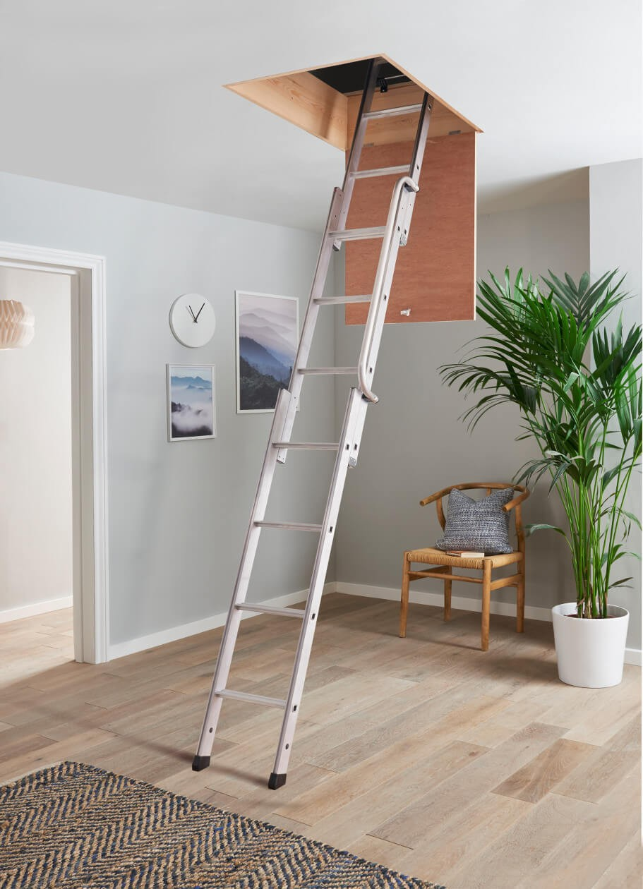 3 Section Loft Ladder in Home