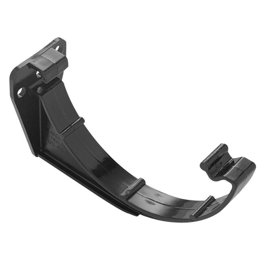 Plastic Guttering Half Round Fascia Bracket 114mm Black