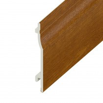 UPVC Shiplap Cladding Board - 125mm - Golden Oak (5m)