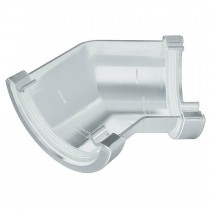 Plastic Guttering Half Round - 135˚ Angle - 114mm x 51mm - White