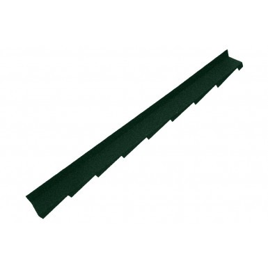Britmet - Plaintile - Right Hand Side Wall Flashing - Tartan Green (1250mm)